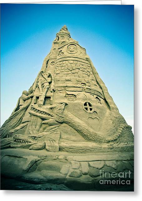 The Sandcastle Greeting Card by Colleen Kammerer