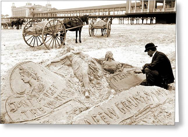 The Sandman, Atlantic City Greeting Card by Litz Collection