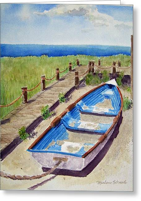 The Sandy Boat Greeting Card