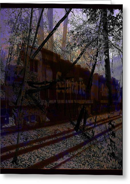 Greeting Card featuring the digital art The Santa Fe by Cathy Anderson