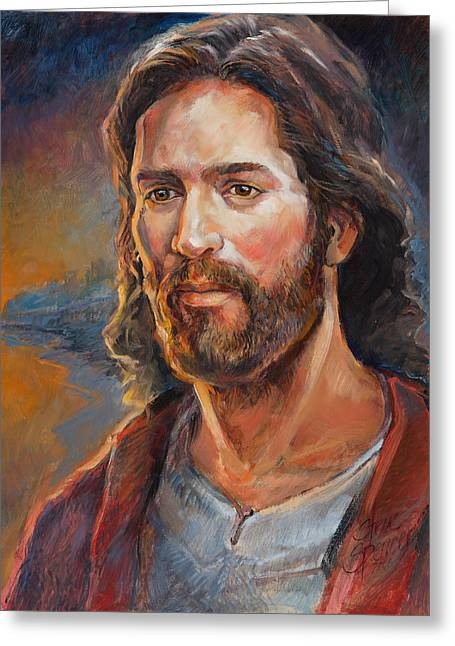 The Savior Greeting Card by Steve Spencer