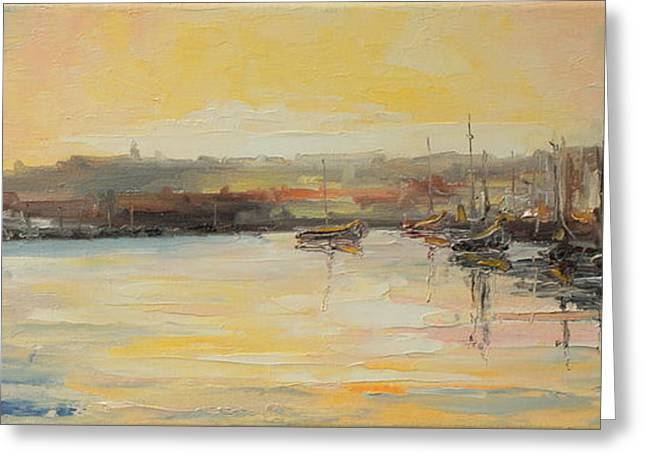 The Scarborough Harbour Greeting Card