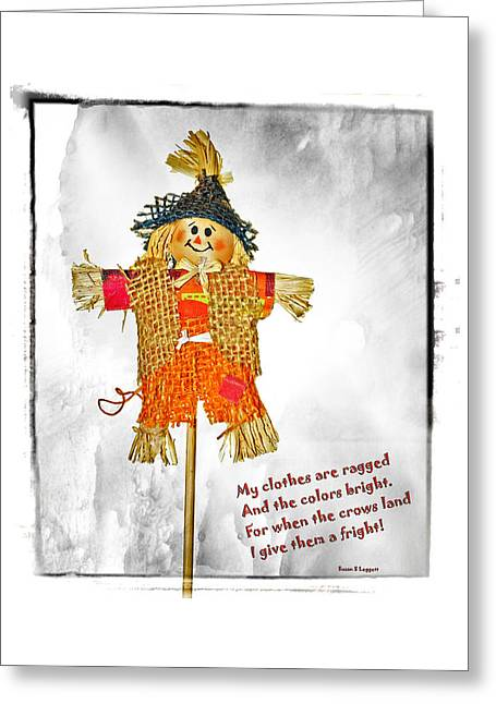The Scarecrow Greeting Card by Susan Leggett