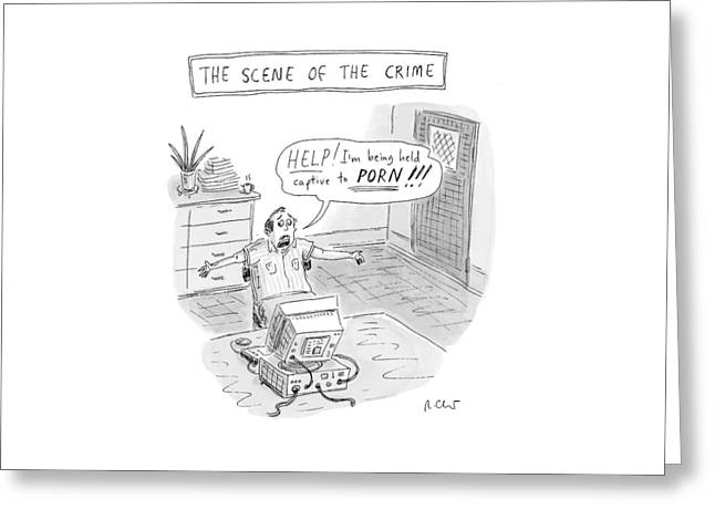 'the Scene Of The Crime' Greeting Card