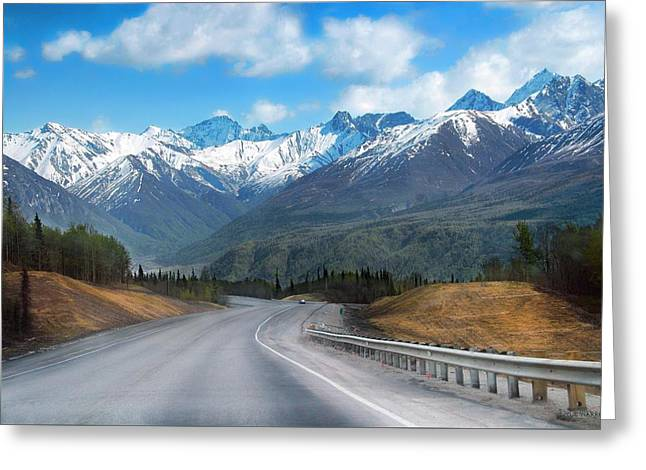 The Scenic Glenn Highway  Greeting Card by Dyle   Warren