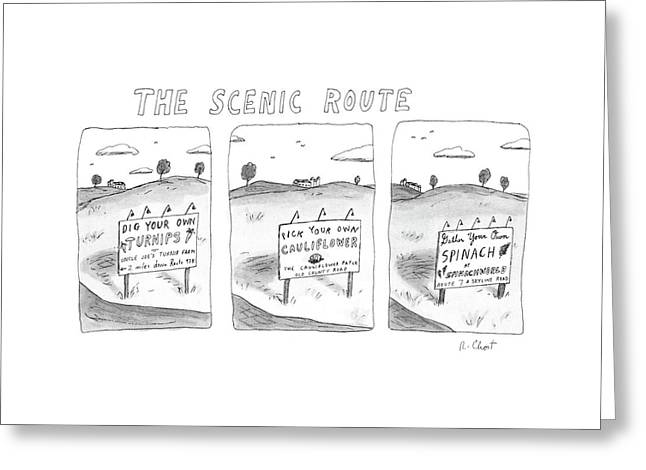 The Scenic Route Greeting Card