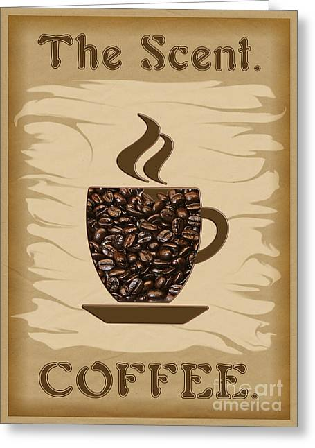 The Scent - Coffee Greeting Card