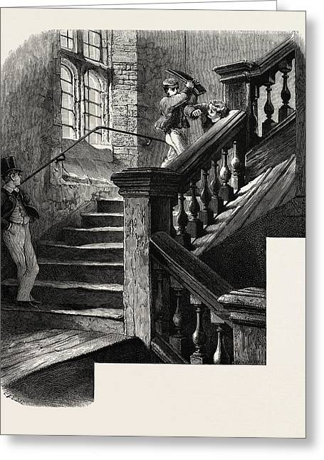 The School Staircase, Eton, Uk Greeting Card by English School