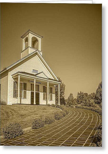 The Schoolhouse Hdr Greeting Card