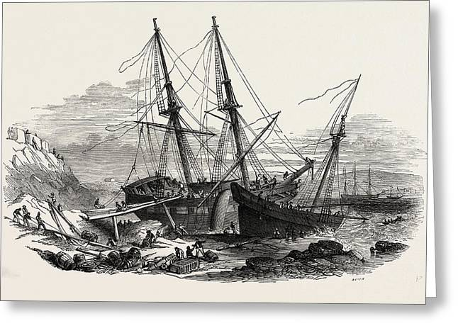The Schooner Providence, And The Brig Hero Greeting Card