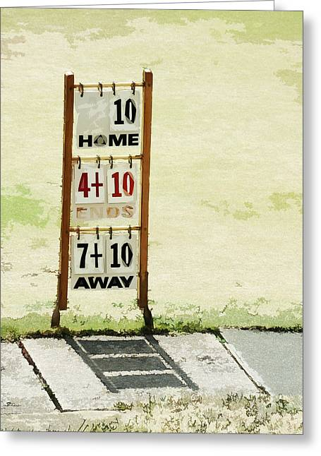 The Score Board Greeting Card by Steve Taylor