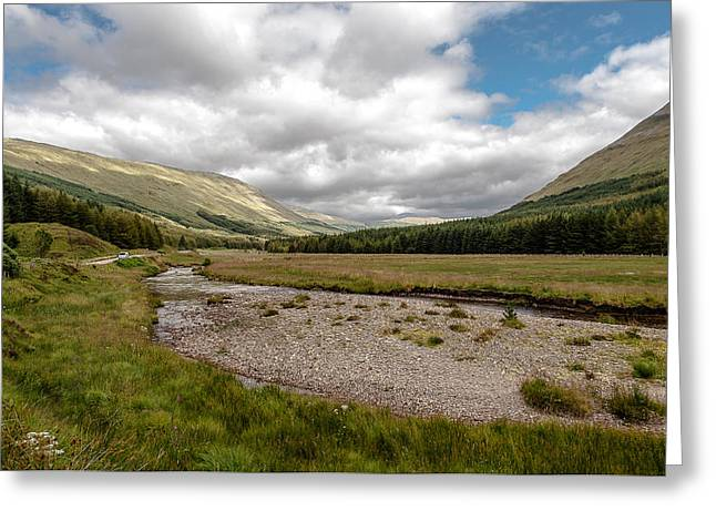 Greeting Card featuring the photograph The Scotish Landscape by Sergey Simanovsky