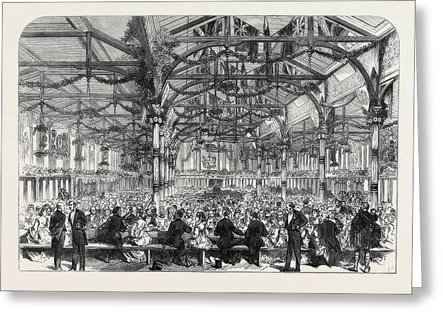 The Scott Centenary Banquet In The Corn Exchange Greeting Card by English School