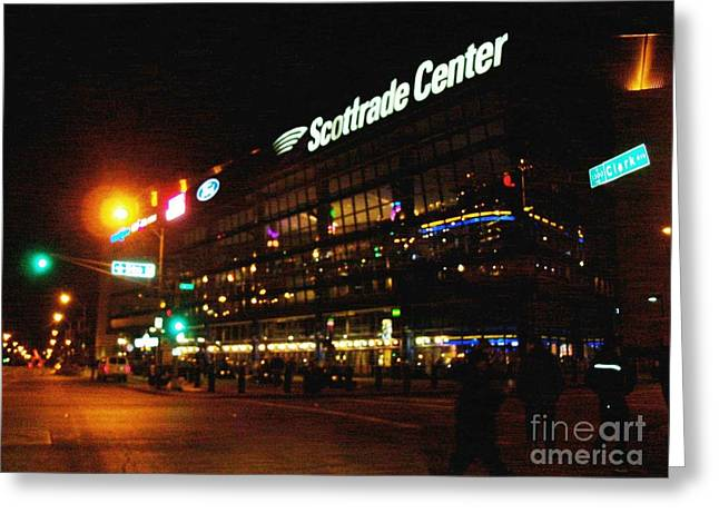 Greeting Card featuring the photograph The Scott Trade Center by Kelly Awad