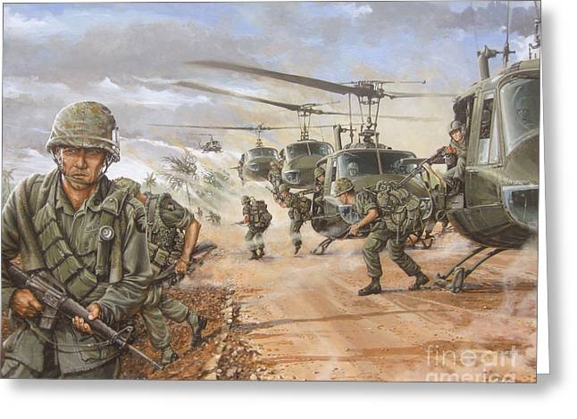 The Screaming Eagles In Vietnam Greeting Card