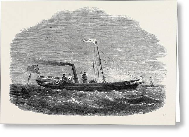 The Screw Clipper Yacht Gazelle Greeting Card