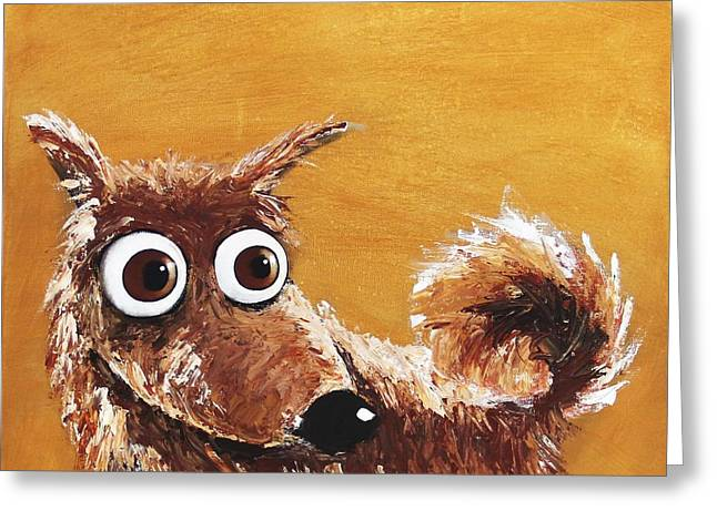 The Scruffy Dog Greeting Card by Lucia Stewart