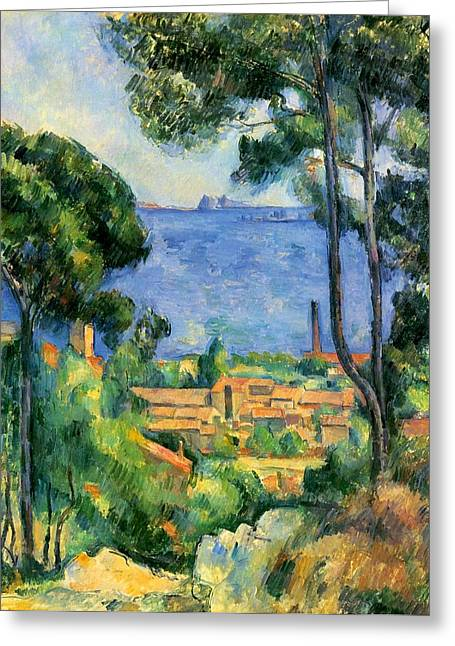 The Sea At The Estaque Greeting Card by Paul Cezanne