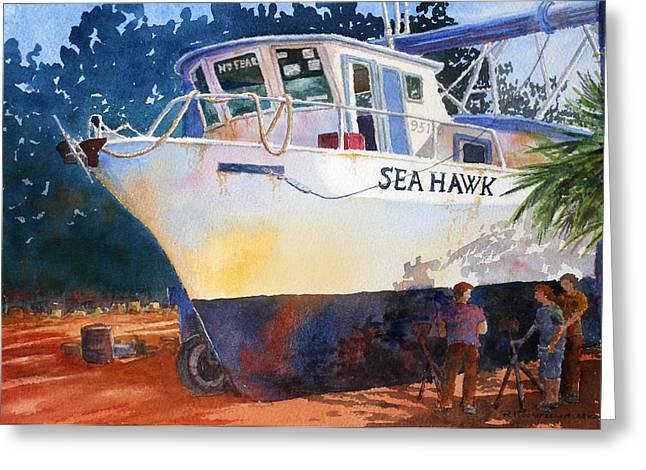 The Sea Hawk In Drydock Greeting Card