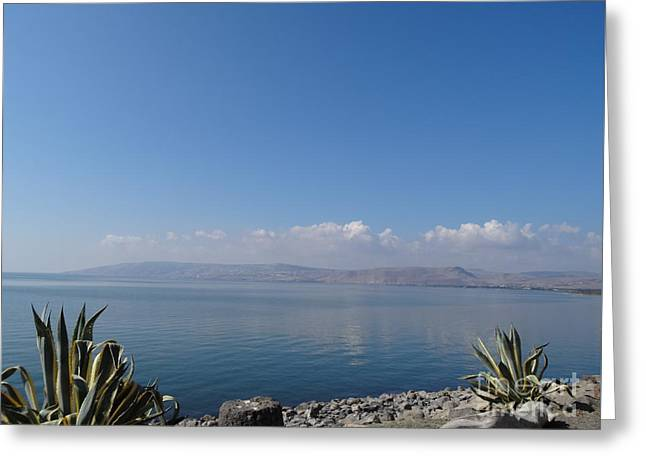 The Sea Of Galilee At Capernaum Greeting Card