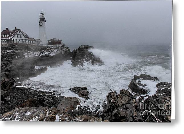 The Sea Was Angry  Greeting Card by Joe Faragalli