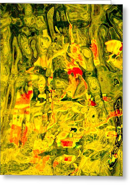 The Seance Yellow Series Greeting Card by Chua  ChinLeng