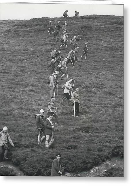The Search For Bodies On The Moors Goes On Greeting Card by Retro Images Archive