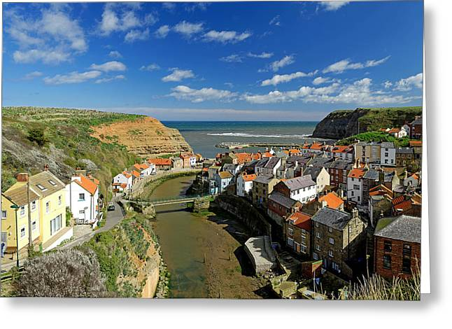 The Seaside Village Of Staithes Greeting Card by Rod Johnson