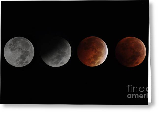 The Second Blood Moon  Greeting Card by Savannah Gibbs