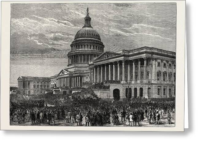 The Second Inauguration Of General Grant As President Greeting Card by American School