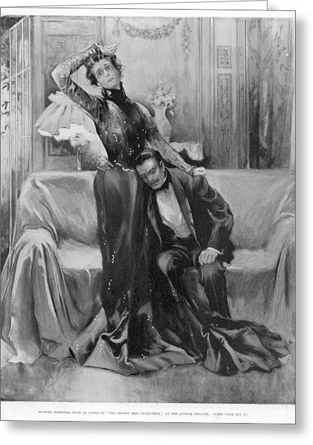 The Second Mrs Tanqueray, Eleonora Duse Greeting Card by  Illustrated London News Ltd/Mar