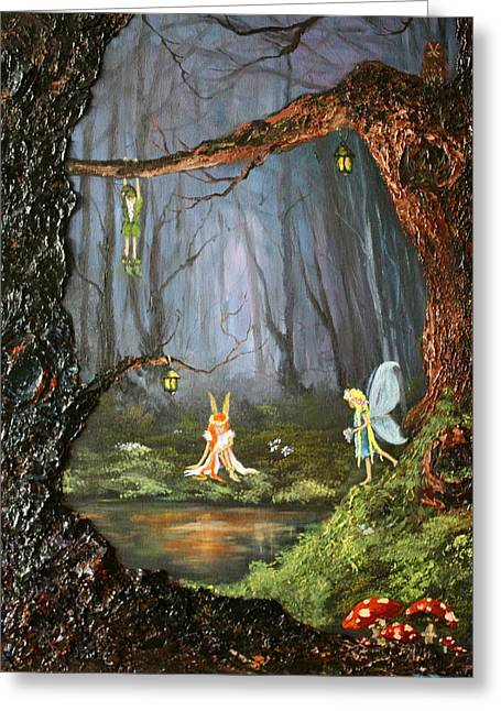 The Secret Forest Greeting Card by Jean Walker