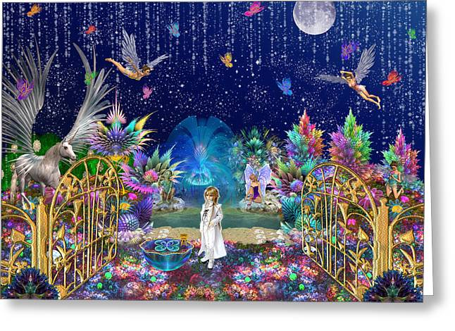 The Secret Garden Greeting Card by Peggi Wolfe