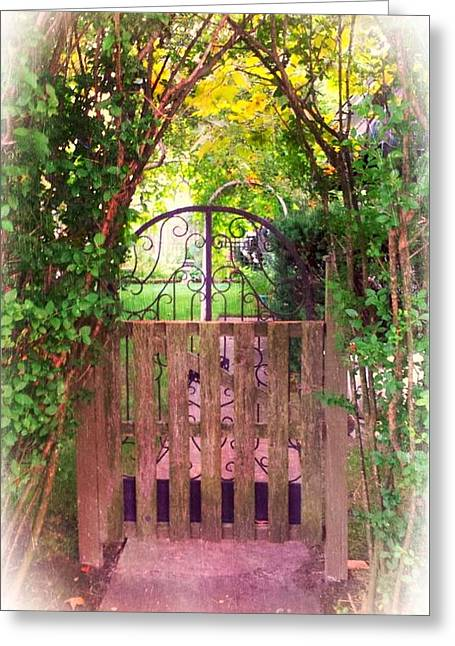The Secret Gardens Gate Greeting Card