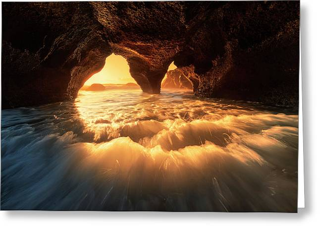 The Secret Sea Cave Greeting Card