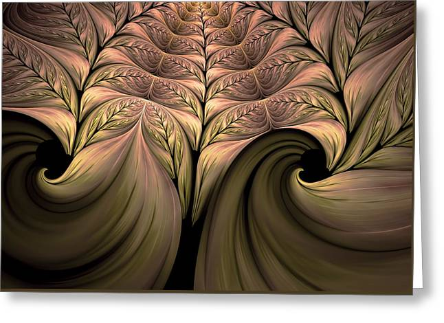 The Secret World Of Plants Abstract Greeting Card by Georgiana Romanovna