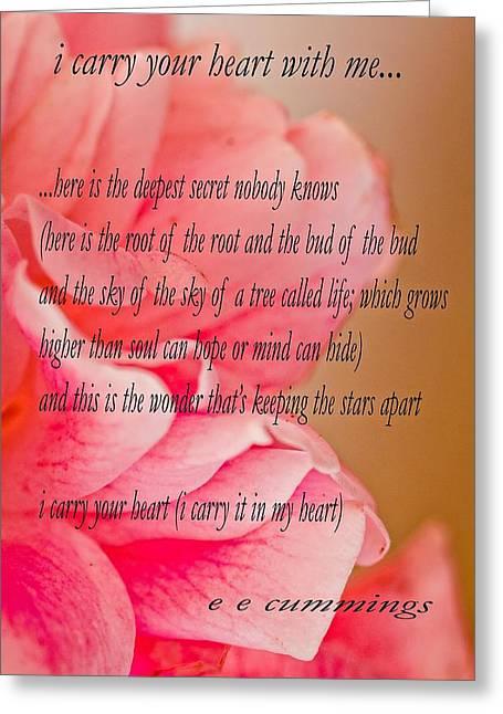 The Secret...a Love Poem Greeting Card