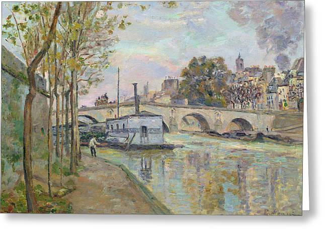 The Seine In Paris  Greeting Card by Jean Baptiste Armand Guillaumin