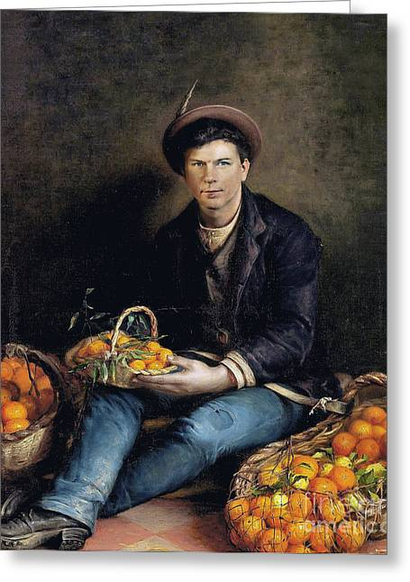 The Seller Of Oranges Greeting Card