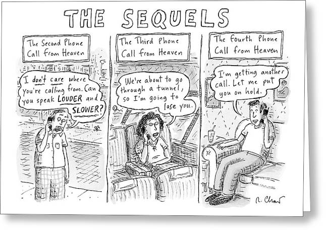 The Sequels 3 Panels Parodying A Book Called Greeting Card