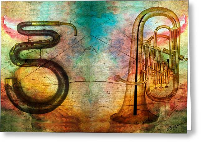 The Serpent And Euphonium -  Featured In Spectacular Artworks Greeting Card