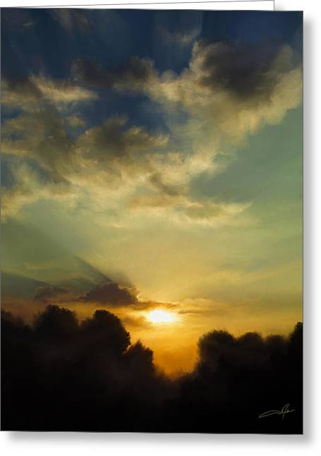 The Setting Sun Greeting Card by Dale Jackson