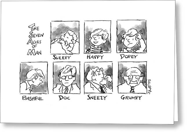 The Seven Ages Of Man: Sleepy Greeting Card