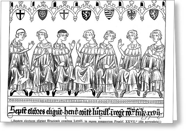 The Seven Electors - Of Koln,  Mainz Greeting Card by Mary Evans Picture Library