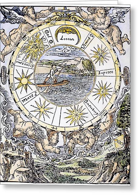 The Seven Planets, 1536 Greeting Card by Granger