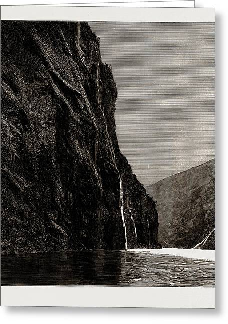 The Seven Sisters, Geiranger Fjord, Norway Greeting Card