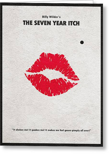 The Seven Year Itch Greeting Card by Ayse Deniz