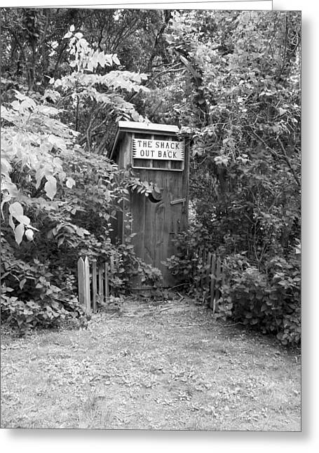 The Shack Out Back In Black And White Greeting Card