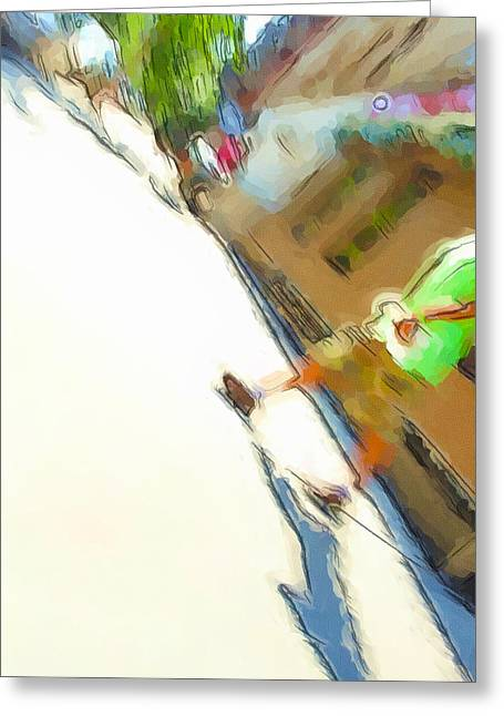 The Shadow Follows Greeting Card by Karol Livote