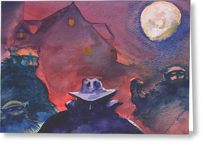 The Shadow Greeting Card by T Ezell